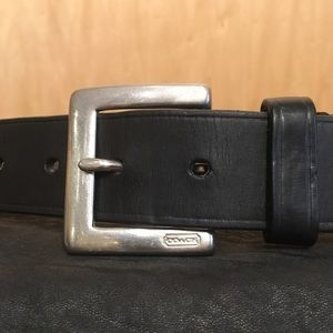 🌲COACH Black Leather Belt🌲